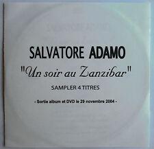 "SALVATORE ADAMO - CD SAMPLER PROMO TEST-PRESSING 4 TITRES ""UN SOIR AU ZANZIBAR"""