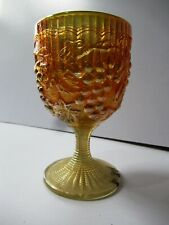 """Antique Imperial Carnival Wines Glass Grape Pattern Marigold Goblet Barware """"F89"""