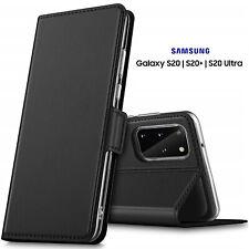 COVER per Samsung Galaxy S20 / S20+ Plus / Ultra CUSTODIA PORTAFOGLIO PELLE Nero