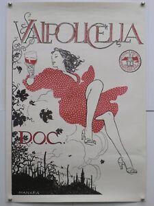 VALPOLICELLA D.O.C. Classico illustrato da Milo Manara 70x100 manifesto origin.