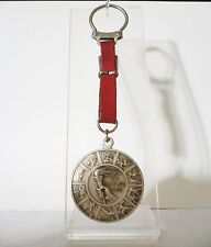 1960 Olympic Games Rome ORIGINAL Silver TORCH RELAY Leather Keychain VERY RARE!!