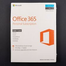 Microsoft Office 365 Personal Subscription 1 User 1 Year Mac Windows New Sealed