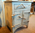HAND CRAFTED PRIMITIVE ANTIQUE LOOKING RUSTIC CABIN NIGHT STAND CABINET