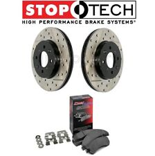 For F10 5-Series Set of Rear Sport Drilled & Slotted Brake Disc Rotors With Pad