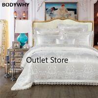 Bedding Set Luxury Wedding Bed Set Jacquard Cotton Duvet Cover Bed Set Cover