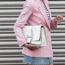 Zara White Studded Leather Crossbody bag BNWT