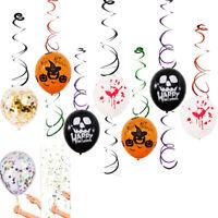 Eg _ Happy Halloween Teschio Sanguinoso Mano Zucche Palloncini Festival Festa