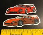 2x Lot Stickers Ferrari F40 1987 1988 1989 1990 1991 1992