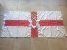 """Vintage Linen Northern Ireland ULSTER Irish Flag 73x34"""" Peaky Blinders series"""