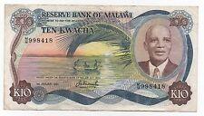 MALAWI 10 KWACHA 1983 PICK 16 E LOOK SCANS