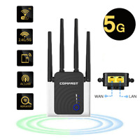 1200Mbps Dual Band WiFi Repeater 5GHz Wireless Internet Booster Range Extender