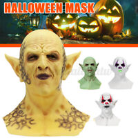 Halloween Scary Party Decorations Horror Demon Latex Mask Yellow Goblins Cosplay