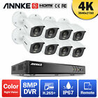ANNKE 8CH 4K DVR Ultra HD 5MP/8MP CCTV Security Camera System Home Outdoor 0-4TB