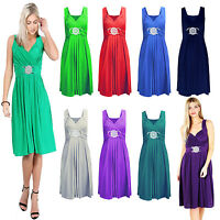 New Ladies SHORT Party PROM Bridesmaid Dress TOP Gown Buckle MAXI Cocktail 8-26