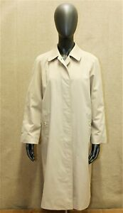 Trench Imperméable BURBERRY'S vintage 70 beige 10 long 38 FR made in England