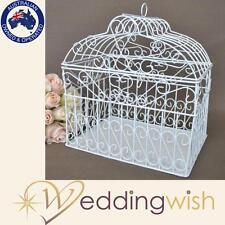 Wire Wedding Bird Cage, Dome Hearts Shaped Wedding Card Keeper Wishing Well Box