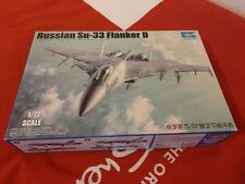 Trumpeter - Russian Su-33 Flanker D -1:72, 01667 Military Aircraft Model