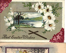 100 year old Easter Cards set of 3