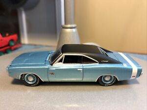 GREENLIGHT DIECAST 1970 DODGE CHARGER R/T, BLUE 1:64, EXCELLENT Collector Car