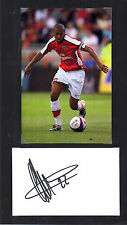 GAEL CLICHY ARSENAL HAND SIGNED DISPLAY APPROX 12 x 8 OVERALL