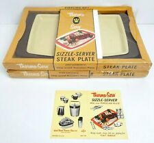 Lot of 2 Vintage Thermo Server Sizzle Steak Plate Sizzling Hot !!