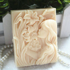 Silicone Soap Molds Rectangle DIY Craft Girl Candle Mold DIY Handmade Mold