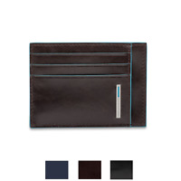 Piquadro Blue Square Portafogli bustina 6 porta tessere pelle PP2762B2