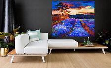 80cmx 80cm  SUPER SIZE CANVAS landscape art painting print tree sunset