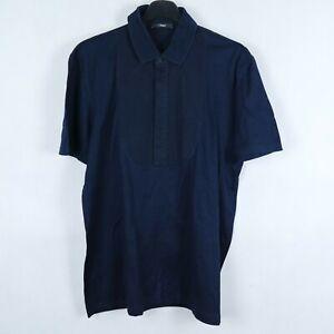 Z ZEGNA Vintage Mens Dark Blue Short Sleeve Collared Polo Shirt SIZE Large