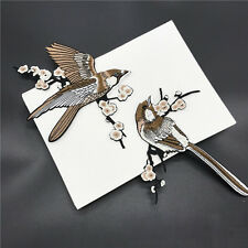 2pcs  Bird Embroidered Patches Iron on Sewing for clothes embroidery DIY Sticker