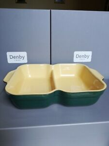 DENBY CLASSIC GREEN DIVIDED  SERVING DISH