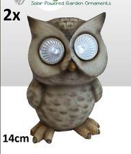 2 x Solar Powered Owl Bird Scarer Deterrent Pest Control Garden Decor Light Led