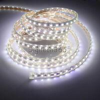 SMD3014 Luces de cinta-tira LED flexible AC220V 60 LED/m impermeable (Blanco)