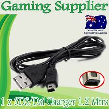 Nintendo 3DS / Dsi / DSi XL / 3DS XL / 2DS USB charger 1.2 Mtrs
