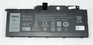 NEW GENUINE DELL INSPIRON 15 7537 / 17 7737 58WH BATTERY F7HVR G4YJM Y1FGD T2T3J