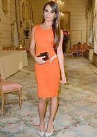Authentic Versace Orange Paneled Crepe Dress IT42 RRP$1875