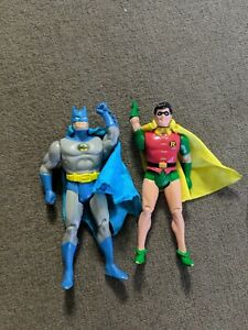 1984 Vintage Super Powers Figures Kenner Batman and Robin Action Figures w/capes