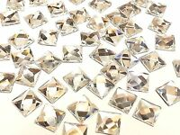 stitch on Embellishmnts CraftbuddyUS50pc 15mm Silver Acrylic Cone Spike sew on
