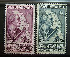 1954  Italia   A.Vespucci  2  Valori  serie  Usata