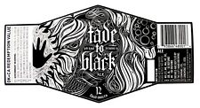 Left Hand Brewing FADE TO BLACK ALE beer label CO 12oz with CRVs