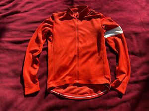 Rapha cycling jersey Classic Long Sleeve Medium Red/orange