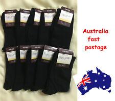 10 Pairs Black Premium Cotton Men's Business Socks Works Sports Socks
