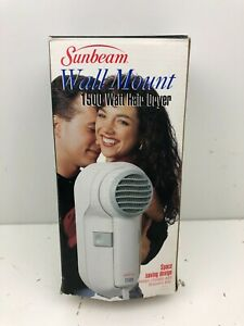 Sunbeam Wall Mount 1500 Watt Hair Dryer 1626-20 New in box