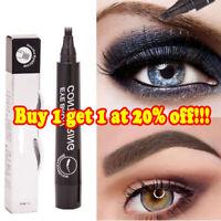 UK Eyebrow Tattoo Pen Waterproof 4 Fork Tip Microblading Makeup Ink Sketch NEW