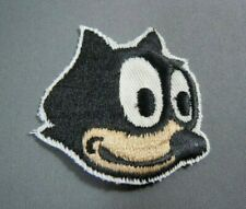 """Vintage Felix the Cat Embroidered Iron-On Patch - 1.75"""" -"""
