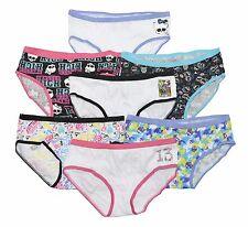7 pezzi Bambini Ragazze Pantys//Hipster Biancheria Intima Mutande Cotone 104-152