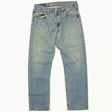 Vintage Levi's 501 Original Fit Jeans Made in USA Size 32 x 31 Blue Faded Denim
