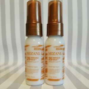2 MIZANI 25 Miracle Milk Leave in Conditioner 1oz/30mL each Travel Size
