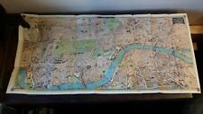 1912 ANTIQUE MAP ENLARGED PICTORIAL PLAN OF LONDON - CHAS BAKER & CO.