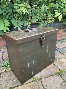 Vintage Muckle Mfg Owatonna Minn 1950s Strong Box File Box Tool Box